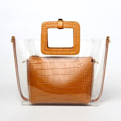 Ins Mini mère gelée plage PVC sac unique sac à bandoulière étudiant luxe sacs à main femmes sacs designer carteras y bolsos de mujer