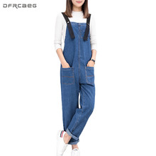Spring Long Jumpsuits For Women 2018 Blue Strapless Braces Denim Overalls  Pockets Dungarees Stretch Romper Jeans Pants Trousers 8bfdce13211f