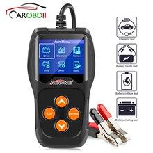 KONNWEI KW600 автомобильный тестер батареи 12 В цифровой цветной экран автоматический анализатор батареи 100 до 2000CCA Cranking зарядка автомобиля диагностический