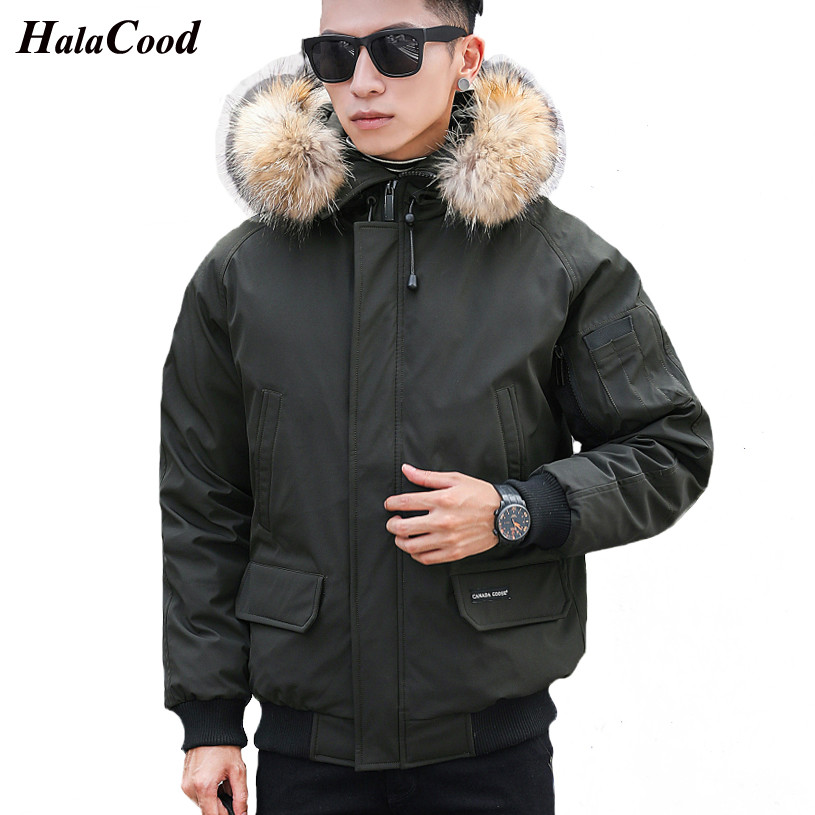 Hot Sell 2018 New Winter Warm   Down   Jacket Men 90% White Duck   Down   Fashion Short   Down     Coats   High Quality Hooded Thicken Parkas