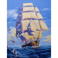 Frameless Module Picture Sailing Boat Painting By Numbers Drawing Coloring By Numbers Wall Pictures For Living