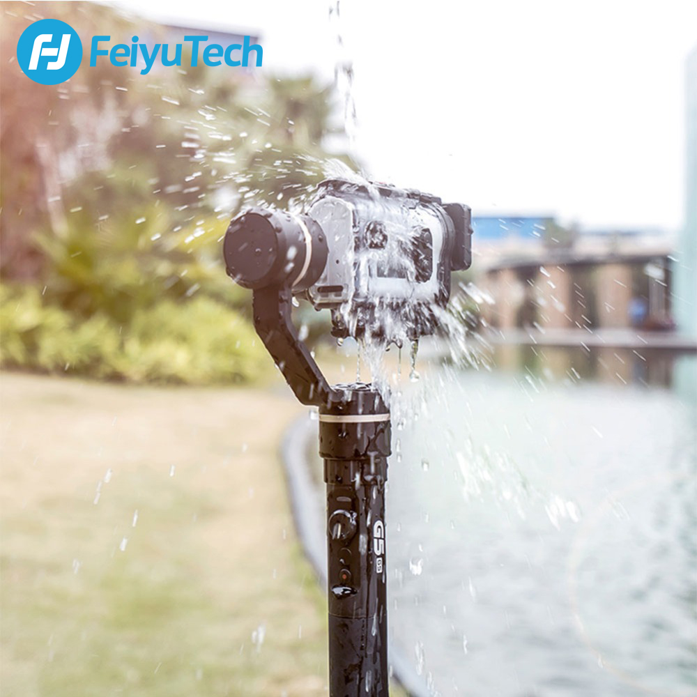 Image 3 - FeiyuTech G5GS Handheld Gimbal 3 Axis Camera Stabilizer for Sony AS50 AS50R  X3000 X3000R Splash Proof 130g 200g Payload-in Handheld Gimbal from Consumer Electronics