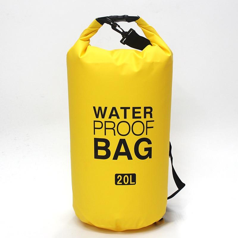 Swimming Bag Ocean Pack 10L 15L 20L Waterproof Bag Storage Dry Sack For Outdoor Adventure Camping Canyoneering Sailing Surfing