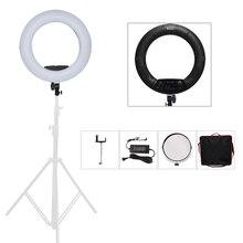 """Yidoblo Noir FS-480II Caméra Photo/Studio/Téléphone/Vidéo 18 """"55 W 480 LED Light Ring + sac 5500 K Photographie Dimmable Anneau Lampe Kit"""