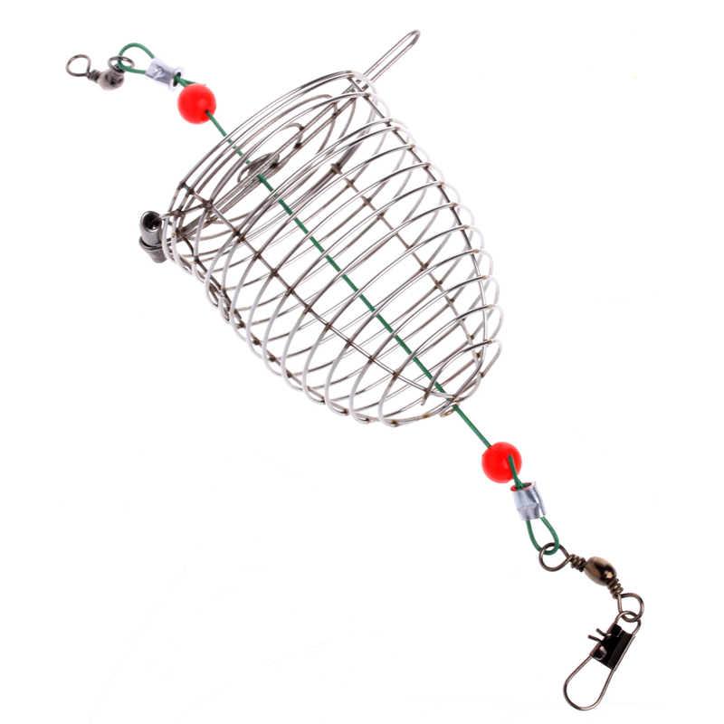 OOTDTY 1 pc Pequeno Alimentador Titular Cesta Armadilha Gaiola Isca Isca de Pesca Equipamento De Pesca Ferramenta Acessório