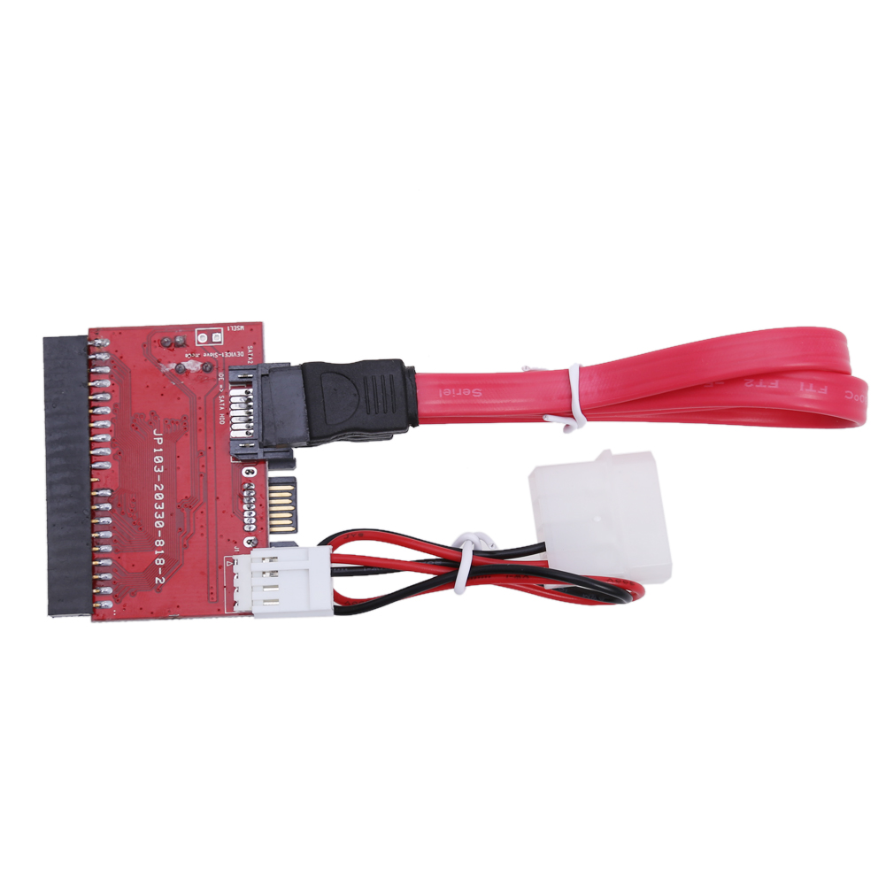 New IDE Drive Converter TO Serial SATA Interface Hard Drive HDD Converter Adapter With SATA Cable and Power Cable