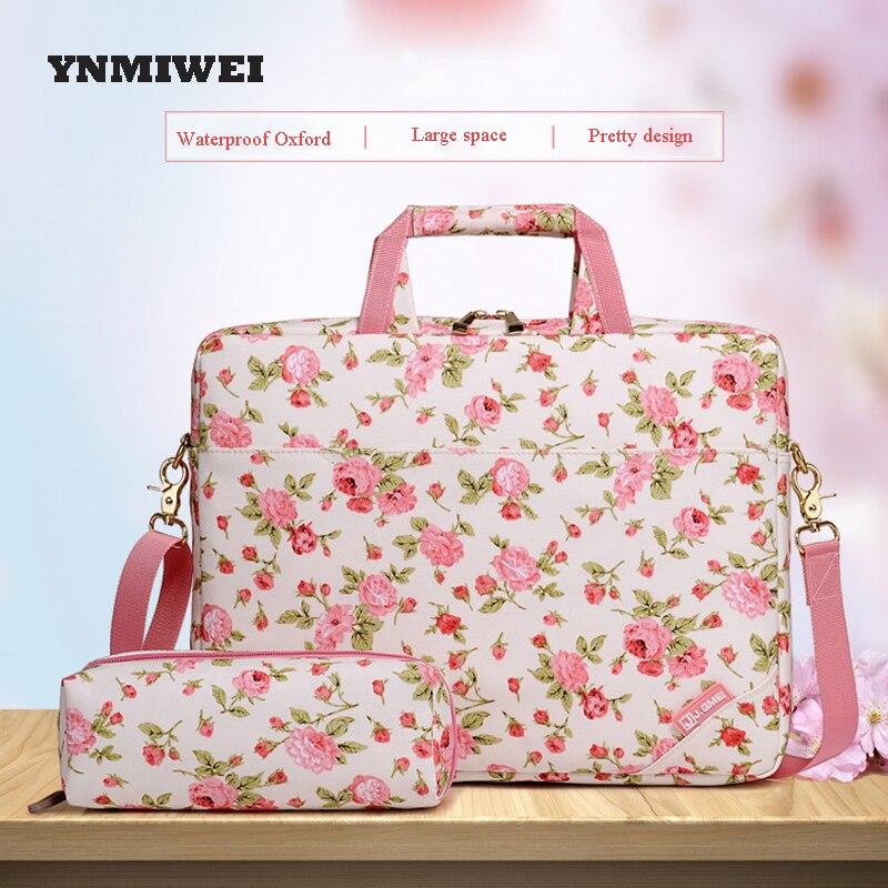 YNMIWEI Laptop Bag Briefcase For Women Bag 14 15 Messenger Bag For Macbook Air Pro For Thinkpad Bag Laptop Women
