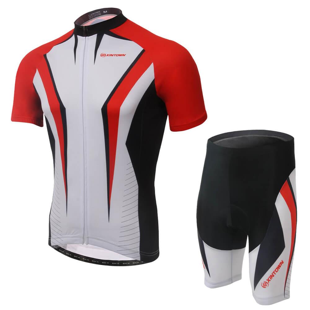 XINTOWN cyclisme absorber Sweat Jersey ensemble court vélo cyclisme respirant vêtements à manches courtes hommes/femmes vêtements de sport d'été