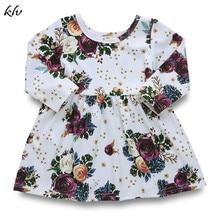 Toddler Infant Baby Girl Spring Autumn Rose Flower Long Sleeve Tutu Princess Dresses Pegeant Dress Prom 6M-5T