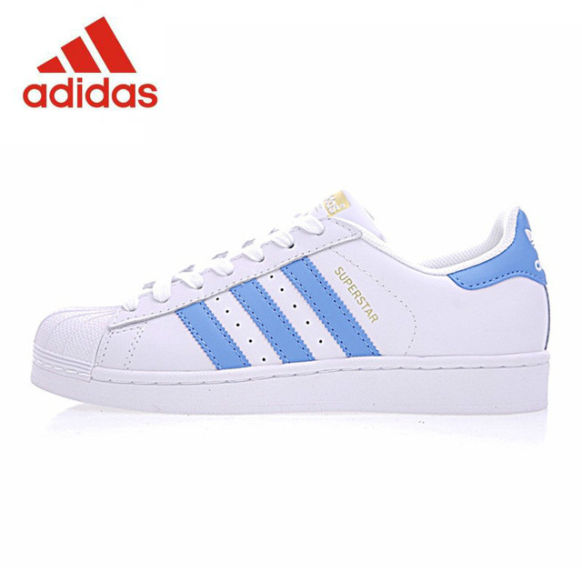 info for c7b1c 543b8 Original Adidas SUPERSTAR Gold Label Men s and Women s Skateboarding Shoes  , Blue Black, Lightweight Breathable BY3716 S81014