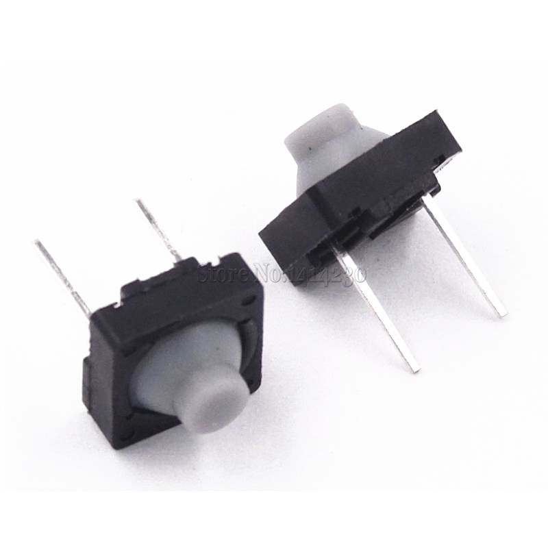 20PCS Tact Switch 8*8mm 8X8 DIP Switches Conductive Plastic Buttons Feel Good Silicone Button Switch Touch Switch Middle 2 pins цена