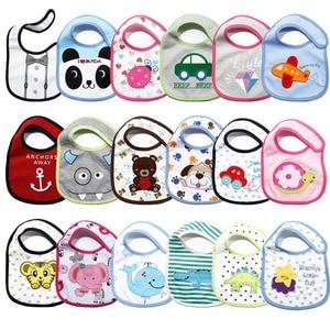 5pcs/lot Carter's Baby Bibs Cartoon Cute Boys Girls Burp Cloths Cotton Waterproof Saliva Towel Newborn Wear Accessories(China)