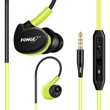 Auriculares internos IPX5 de 3,5mm con micrófono, auriculares estéreo para correr, auriculares HIFI a prueba de agua con micrófono para Xiaomi, Huawei y Sony
