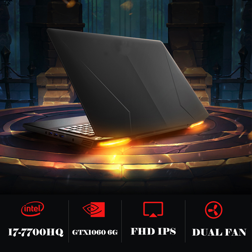 Image 3 - 15.6 inch Gaming Laptop Nvidia GTX1060 Intel I7 7700HQ DDR5 6G Video Card 19020x1080P Backlit Keyboard for Game Office Work-in Gaming Laptops from Computer & Office