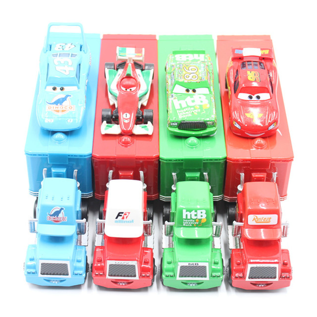 Disney Pixar Cars Alloy And Plastic Mack Truck No.43 The King No.95 Mcquen No.86 Htb 1:55 Diecast Metal Alloy Small Cars For Kid