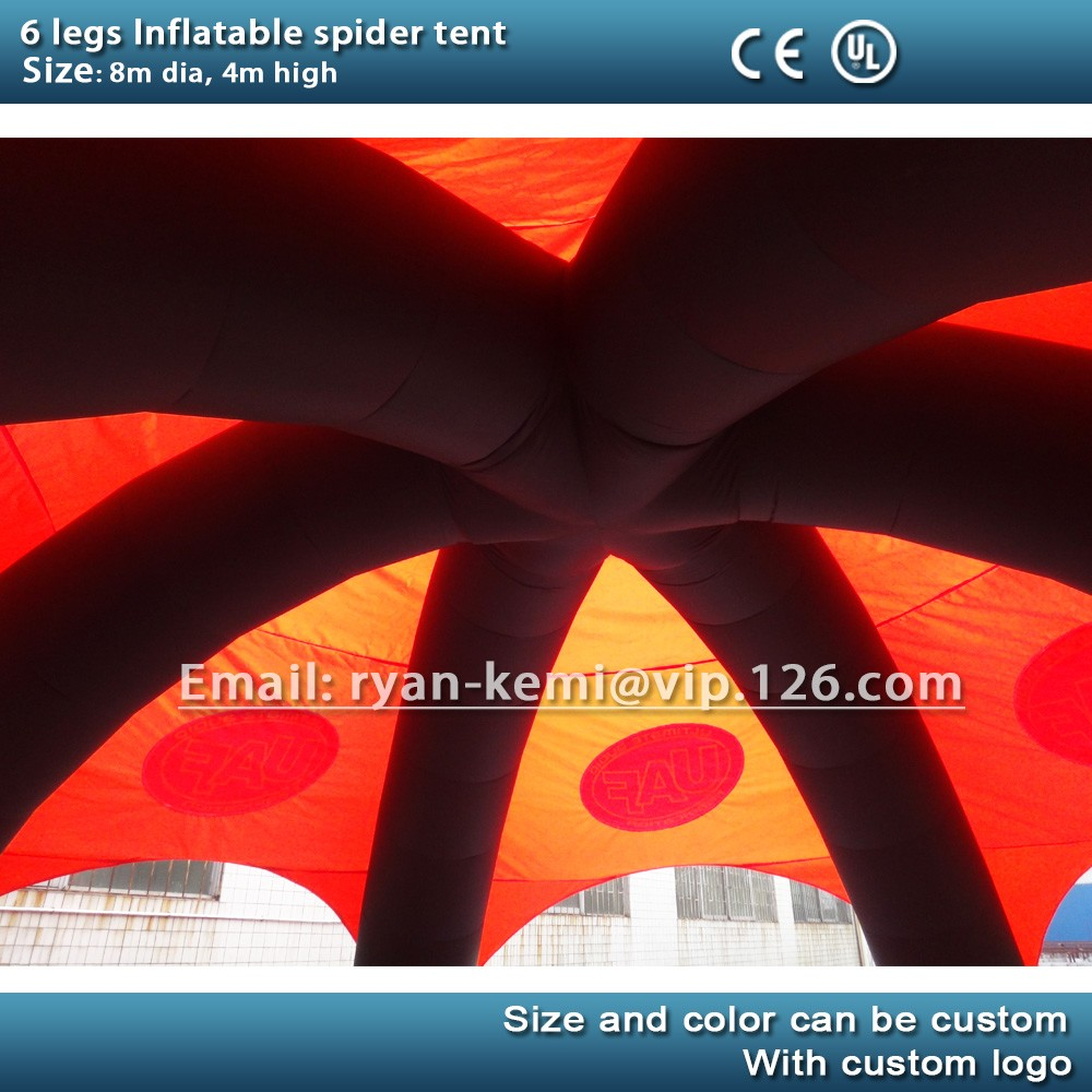 inside of inflatable spider tent