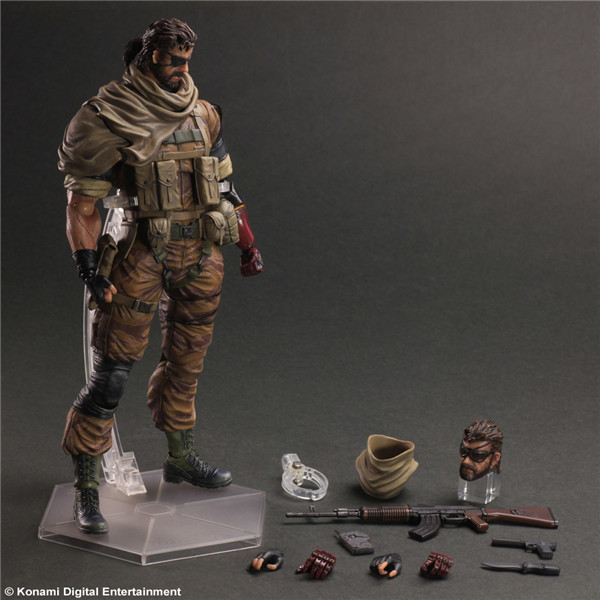PLAY ARTS KAI Metal Gears SNAKE PVC Action Figures Collectible Model Toys 26cm KT1982 gears of war 3 play arts kai marcos 260mm pvc action figures model toy anime playarts kai gears of war