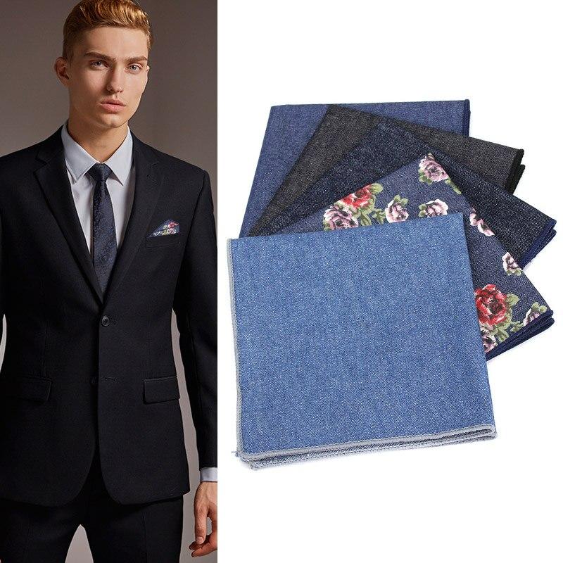 Men Jeans Hankies British Pocket Square Hankerchief Hanky For Wedding Business Party Q88 LT88