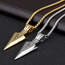 Trendy Arrow Long Necklace Punk Alloy Pendant for Women Men Sweater Chain Vintage Jewelry Gift