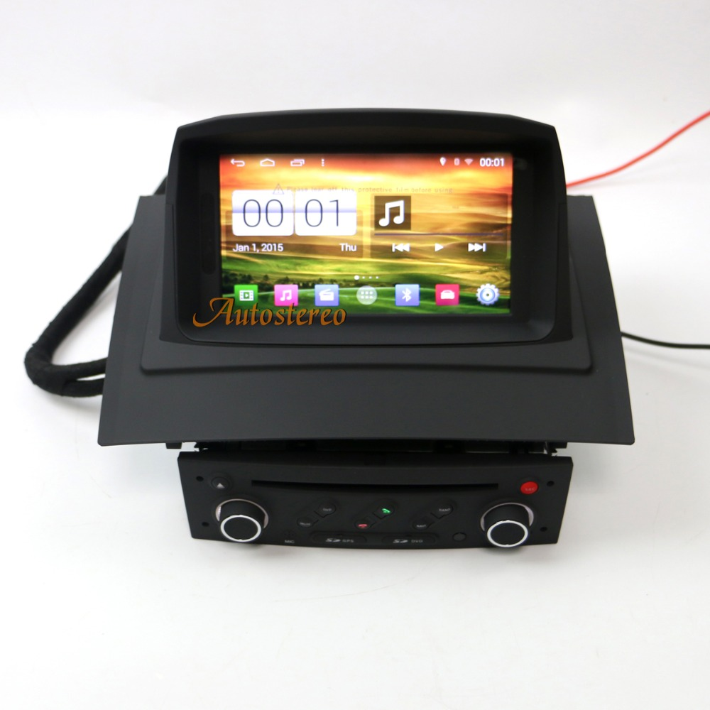 android s160 car dvd player radio for renault megane 2. Black Bedroom Furniture Sets. Home Design Ideas