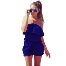 Women Off Shoulder Ruffled Rompers