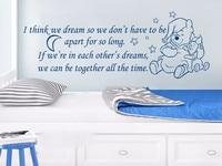 Winnie the Pooh bence biz rüya Duvar Çıkartmaları Tırnak vinil Sticker Kreş Bebek Odası Çocuk Ev Dekor Yatak Odası Kelimeler Stencil