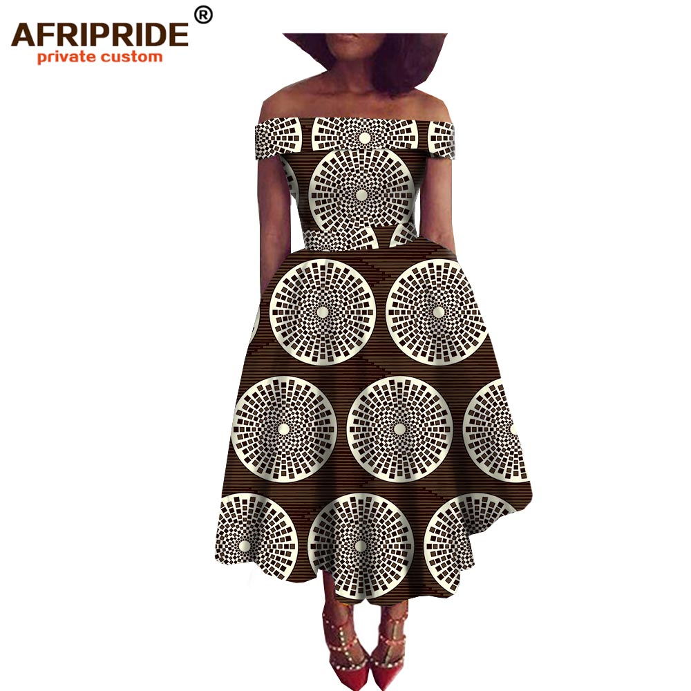 Super Deal 2018 New fabric pattern african style dress for women traditional african clothing strapless dress