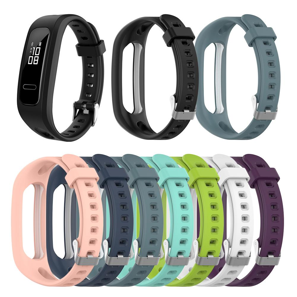 New Arrival Replacement Silicone Strap Watch Band For Huawei Band 3e Huawei Honor Band 4 Running Version Smart Watch Bracelet