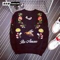 El nuevo lujo de los hombres sweatershirt bordado suplemento de lujo marca de moda en Europa y América Del estilo