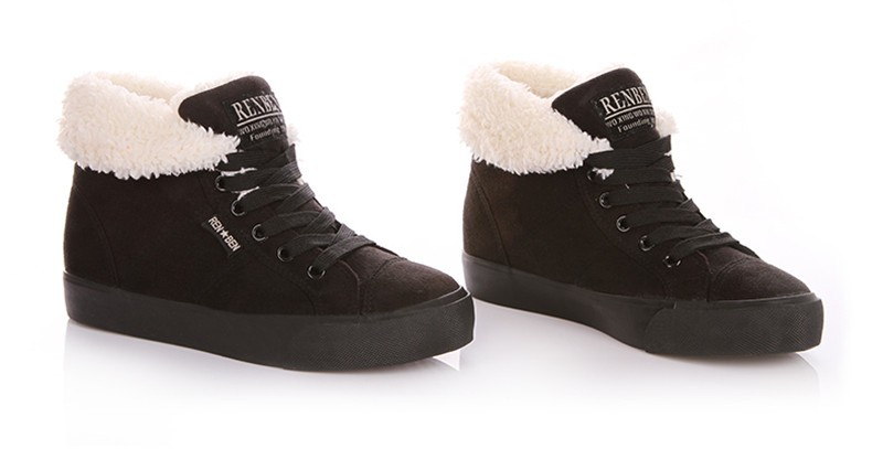 New Women Winter Faux Suede Leather Warm Plush Ankle Boots Autumn Women Shoes Fur Snow Boots Comfortable Running Shoes Sneakers 53