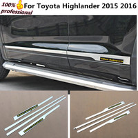 Car Styling Cover Detector Stainless Steel Side Door Body Trim Sticks Strips Molding Lamp 4pcs For