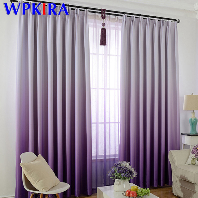Modern Grant Blackout Curtains For Living Room Violet Curtain Solid Pink Window Tulle Shading Bedroom