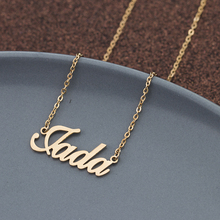 GORGEOUS TALE Wholesale Personalized Carrie Style Name Necklaces Stainless Steel Custom Made with Any Name Fashion Jewelry Gift
