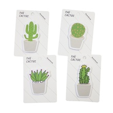 лучшая цена 1pack/lot Kawaii Mini Memo The Cactus Plan Paper Scrapbooking Stickers Sticky Note School Memo Pad Notebook Message Label Gift