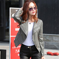Leather jacket women Spring and autumn 2016 new leather coat women short slim motorcycle leather clothing female outerwear black