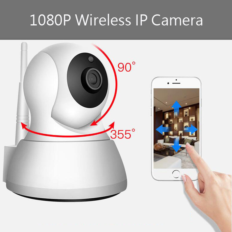 1080P Wifi Home IP Camera Surveillance Anti-theft security indoor monitor 24H motion detection infrared night vision 1/4 CMOS