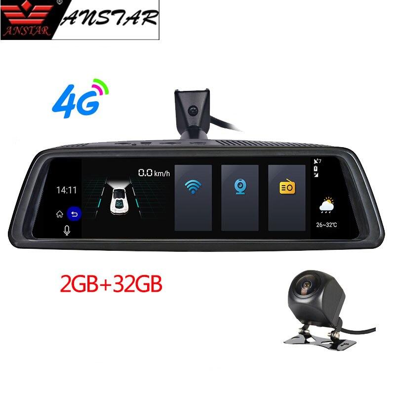 ANSTAR 10 Rear View Mirror Car DVR 4G Android 2GB 32GB Dash Cam HD 1080P Night