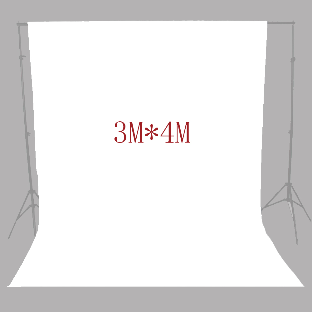 10FT X 13FT   white screen Muslin background cloth backdrop For Photo lighting studio 100% Cotton Chromakey supon 6 color options screen chroma key 3 x 5m background backdrop cloth for studio photo lighting non woven fabrics backdrop