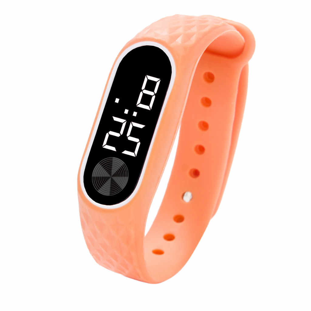 LED デジタルディスプレイブレスレット子供の学生シリカゲルスポーツ腕時計キッズ腕時計