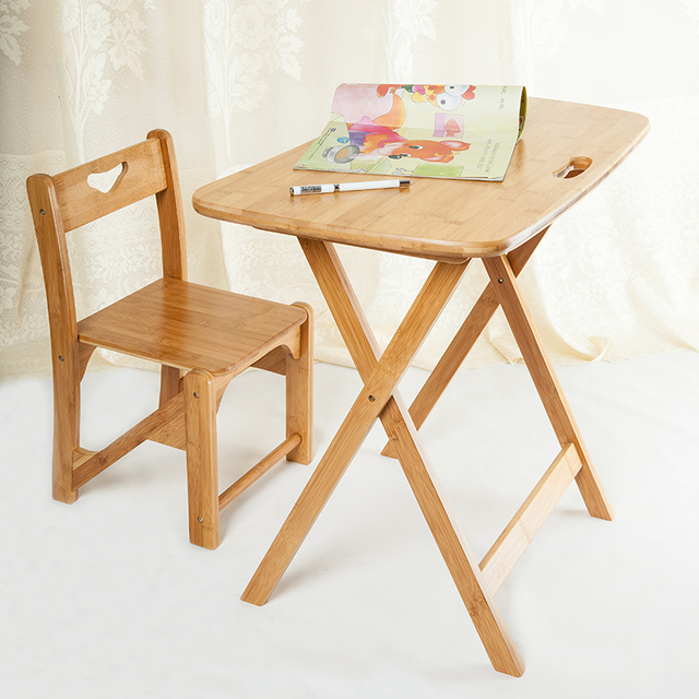 High Quality Simple Style Folding Desk Bamboo Table Simple Table For  Student Table Portable Computer Desk