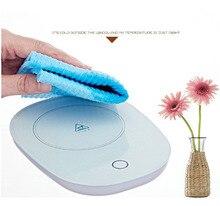 Warm cup thermostat  milk coffee tea warmer heat 55 degrees Hot mat easy clean micro gravity control mini heater