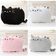 Kawaii Cat Pillow With PP Cotton inside Biscuits Kids Toys Doll Plush Baby Toys Big Cushion Cover Peluche Gift for friends kids цены
