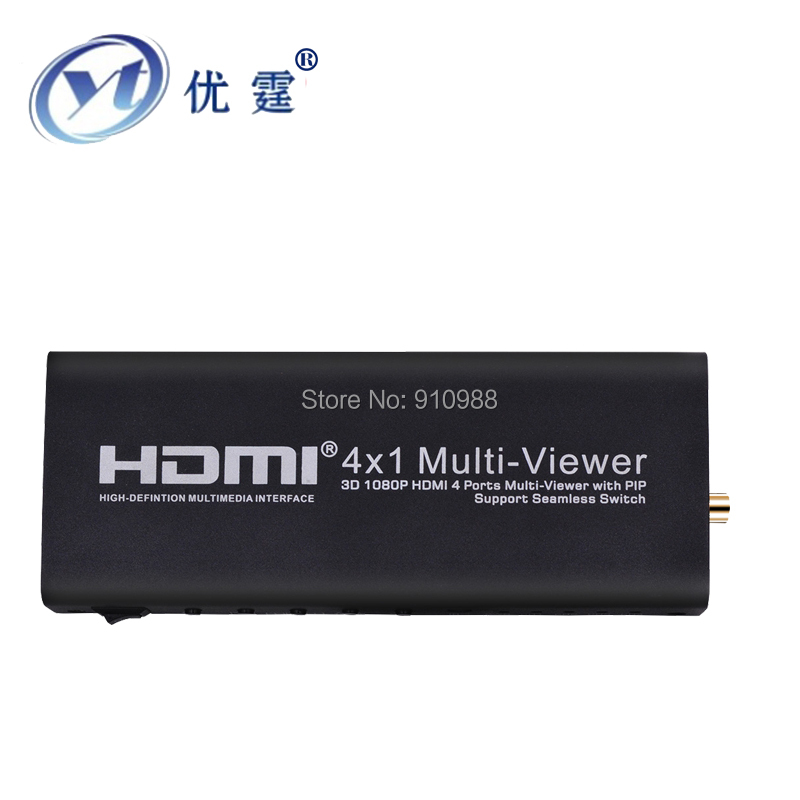 YOUTINGHDAV HDMI 4x1 Mulit-Viewer 1080P 4 Ports with PIP Seamless Switching Output hdmi switch audio extractor doitop hdmi 4x1 quad multi viewer hdmi quad screen real time multi viewer splitter seamless switcher 1080p 60hz 3d ir control