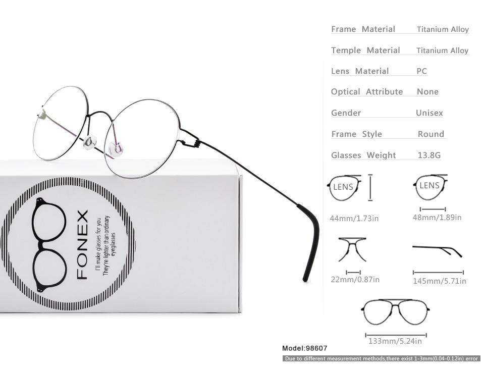 89ed511746 TR90 Titanium Glasses Frame Men Vintage Prescription Eyeglasses Women Myopia  Optical Frames High Quality Round Screwless Eyewear 526. US   21.21-25.02 Piece