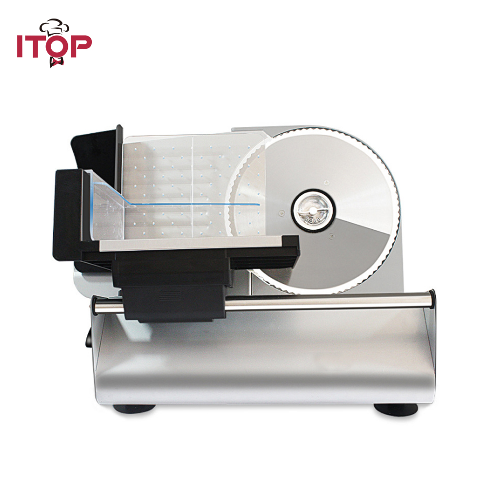 ITOP Automatic Electric Meat Slicer Beef Lamb Cutting Machine Vegetable Bread Cutter 0-22mm cutting thickness Food Slicer 220VITOP Automatic Electric Meat Slicer Beef Lamb Cutting Machine Vegetable Bread Cutter 0-22mm cutting thickness Food Slicer 220V