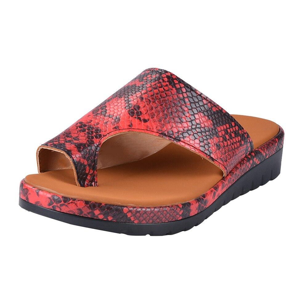 Puimentiua Women slippers Flat Sole Casual Soft Big Toe Foot Sandal Women Shoes Comfy Platform Orthopedic Bunion Corrector
