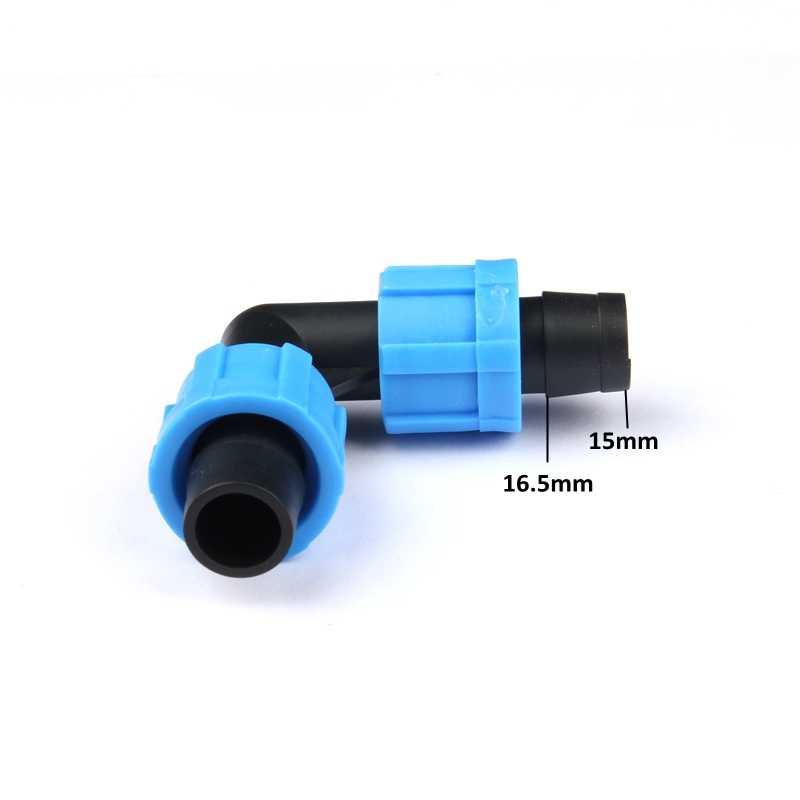 """20 pcs NuoNuoWell 5/8 """"16mm Cotovelo Bloqueio Conector Fita do Gotejamento Acessórios para Estufa Farm Irrigação Por Gotejamento Sistema de Rega adaptador"""
