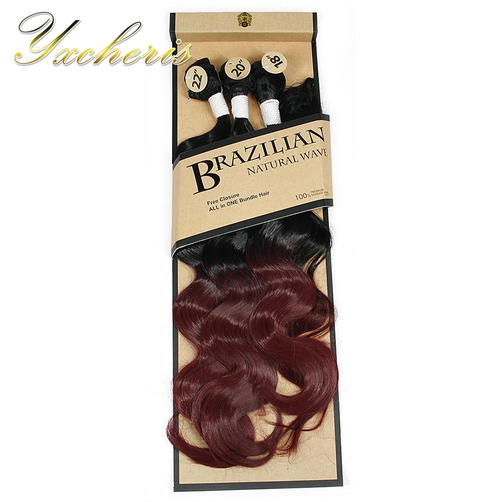 YXCHERISHAIR Βραζιλιάνικο σώμα Wave 3 πακέτα - Συνθετικά μαλλιά - Φωτογραφία 3
