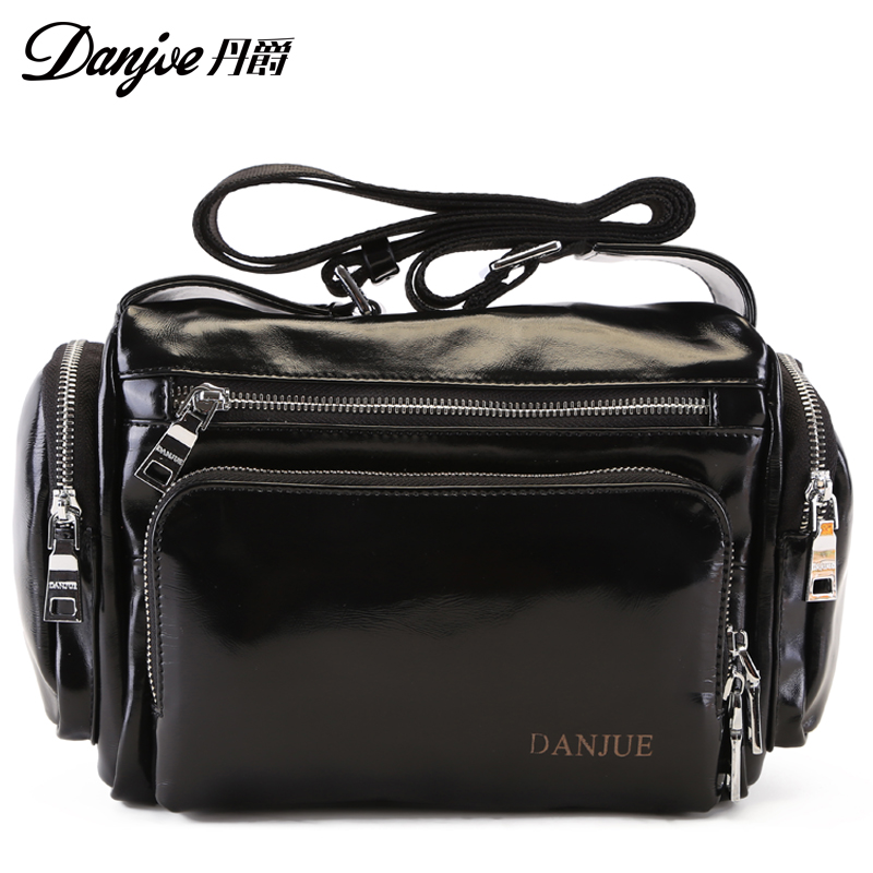 New arrival genuine cow leather casual bucket new products soft shouder messenger men bags travel bags for men