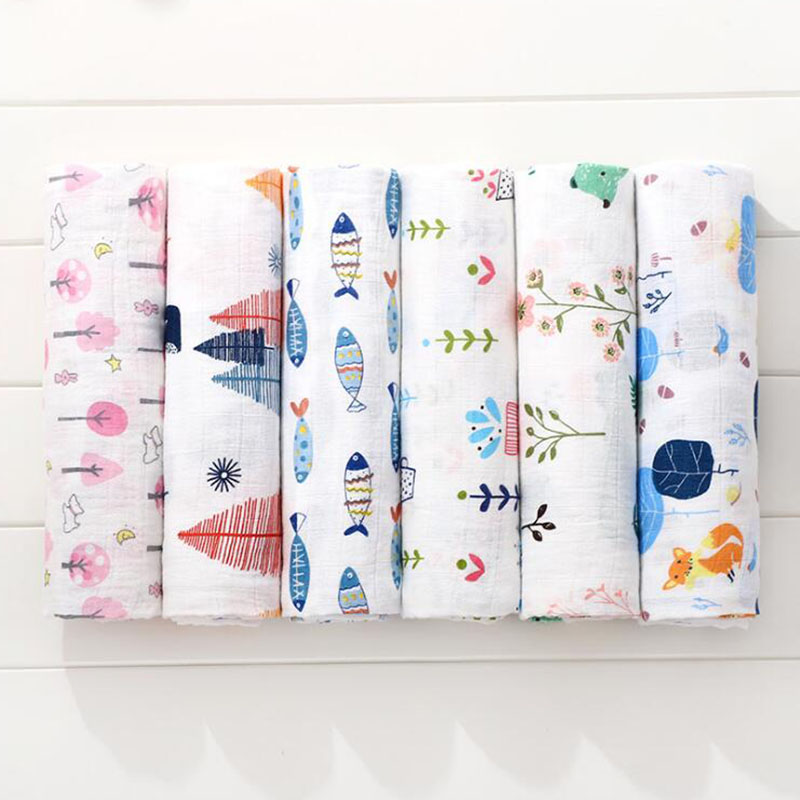 Baby Blanket Muslin Blankets Stroller Bedding Organic Cotton Soft Newborn Baby Bath Towel Swaddle Photography Props Baby Wrap
